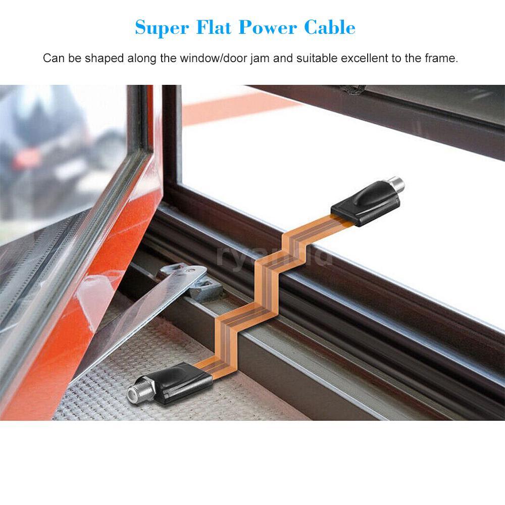 Extrem dünne flache Stromkabel F-Stecker passt unter Türen ...